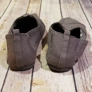 Not Rated Shoes - Not Rated Grey slip on canvas shoe size 9
